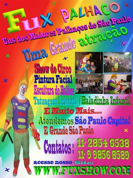 Show de Palhaço Para Festa Animação Infantil Zona Norte São Paulo SP