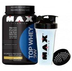 Top Whey 3W (900g) - Max Titanium + BRINDE