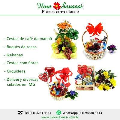 Flora BH Floricultura BH Entrega flores cesta de café em BH