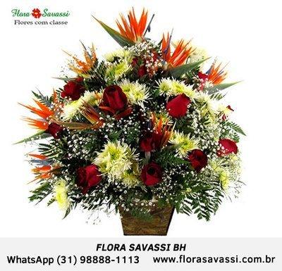 Condomínio Vila Castela Nova Lima, flores, cesta de café