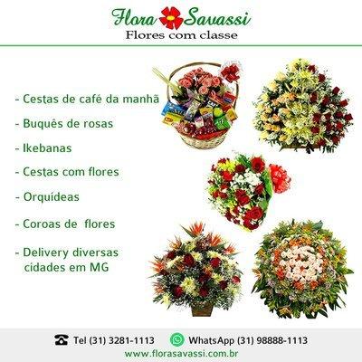 Jardim Canadá Nova Lima flores, buquê coroas cesta café